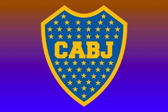 escudo del equipo de futbol argentino boca juniors con siglas y estrellas de color amarillo