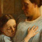 pintura de una mujer y en su regazo una nina simbolo de que perdonar mejora la salud