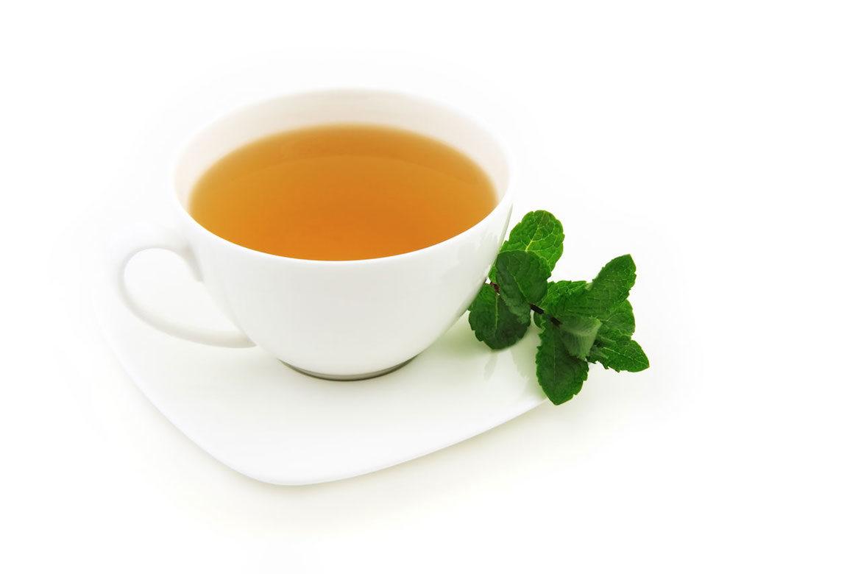 taza de te con una rama de hierba buena conoce los beneficios para la salud al beber te