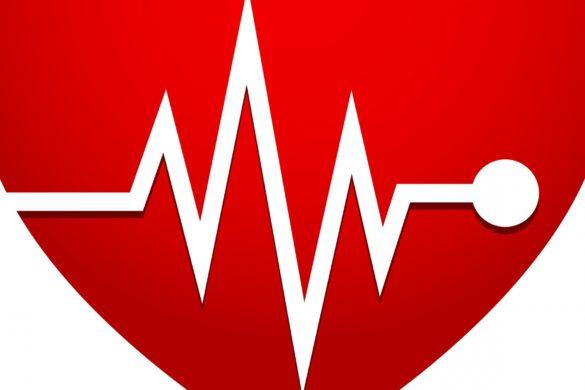 corazon rojo con un alinea blanca que lo cruza los mitos y realidades de los infartos