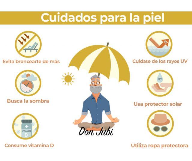infografía con consejos para cuidar de la piel