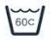 simbolo de lavado a 60