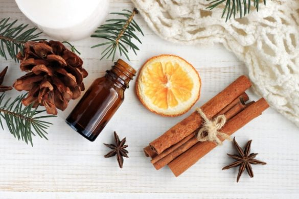 canela naranja frasco carpeta blanca y mazorca