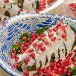 Plato con chiles en nogada